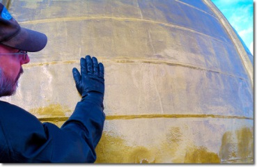 Dome with clearcoat and Roof Menders' gold paint